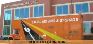 excel moving and storage van in orange