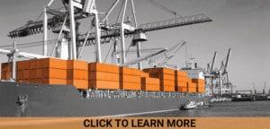 international shipping containers on cargo ship
