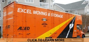 excel moving and storage orange residential truck
